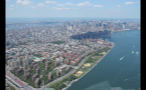 Aerial View of New York City From Helicopter
