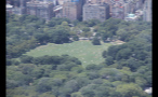 Aerial View of People Laying Out in Central Park