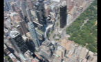 Aerial View of Columbus Circle Next to Central Park