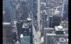 Aerial View of Times Square in NYC