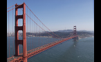 Gorgeous View of Golden Gate Bridge Over San Francisco Bay