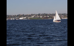 Boat Sailing in Puget Sound