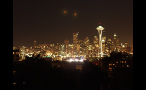 Seattle Skyline Lit Up at Night