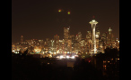 City Lights in Seattle at Night