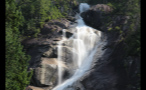 Whistler Waterfall With Misty Glow