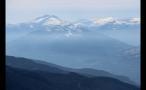 Foggy Whistler Mountain Range