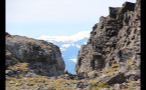 Narrow Rock Passage Through Mountain