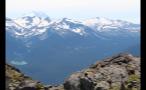 Scenic Snow Covered Mountain Landscape