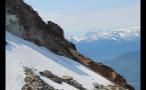 Snowy Hillside Cliffs