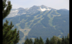 Off Season Ski Slopes Through Forest