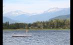 Floating Dock Island In Lake
