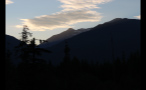 Sunset Whistler Mountain Forest