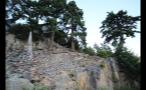 Jagged Rocks On Home Hillside