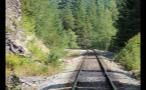 Rocky Hillside By Train Tracks