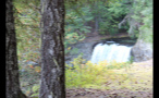 Bright Hidden Waterfall In Canada