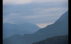 Clouds Lay Over Mountainside