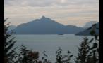 Whistler Mountain Peak Seen From Coast