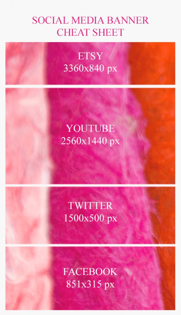 Social Media Banner Sizes