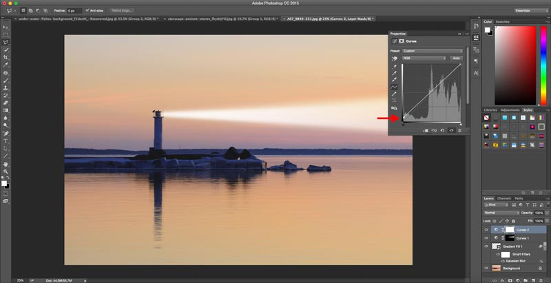 Adobe Photoshop Tutorial How to Add Light Beams to Images