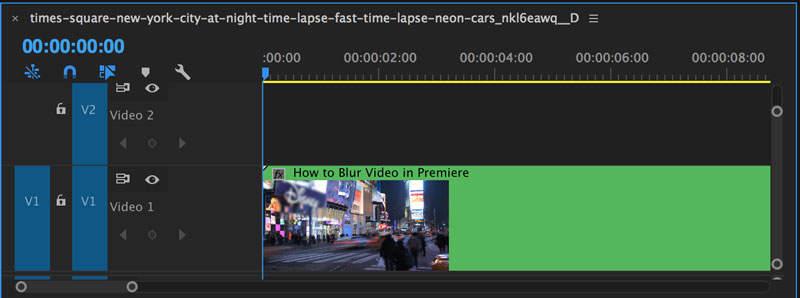 How to blur video in premiere pro