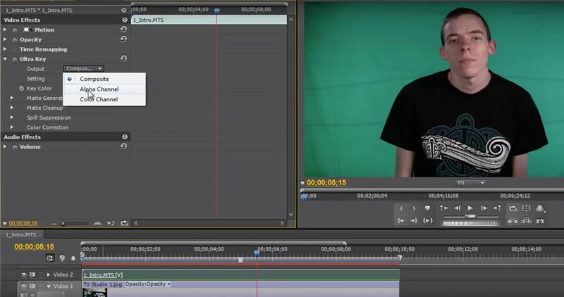 How to Use Adobe Premier's Ultra Key for Green Screen Backgrounds