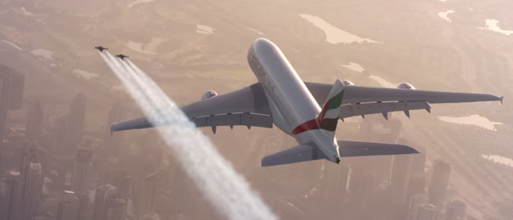 Watch Two Jetpack Daredevils Fly Alongside an Airbus A380