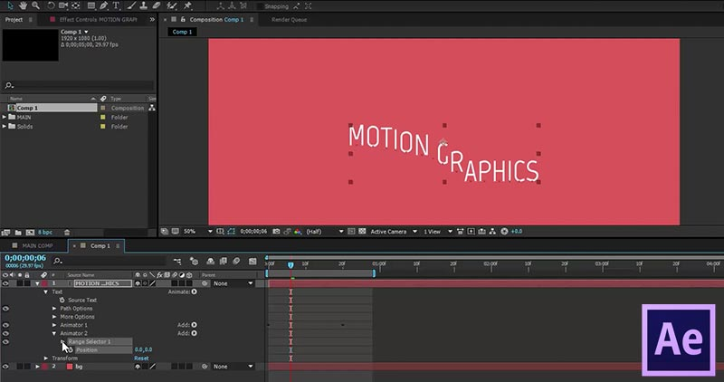 Basic Text Animation in After Effects: Creating a Smooth Text Effect Intro in AE