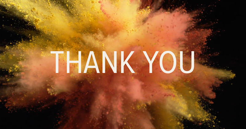 A Big Thank You From Our Video Contributors