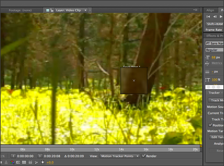 After Effects - Stabilizing Motion