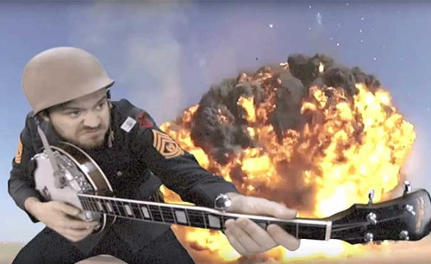 "Banjo Flamethrowers and Cello Cannons: Iron Maiden's ""The Trooper"" Cover Gives New Meaning to an Explosive Performance"