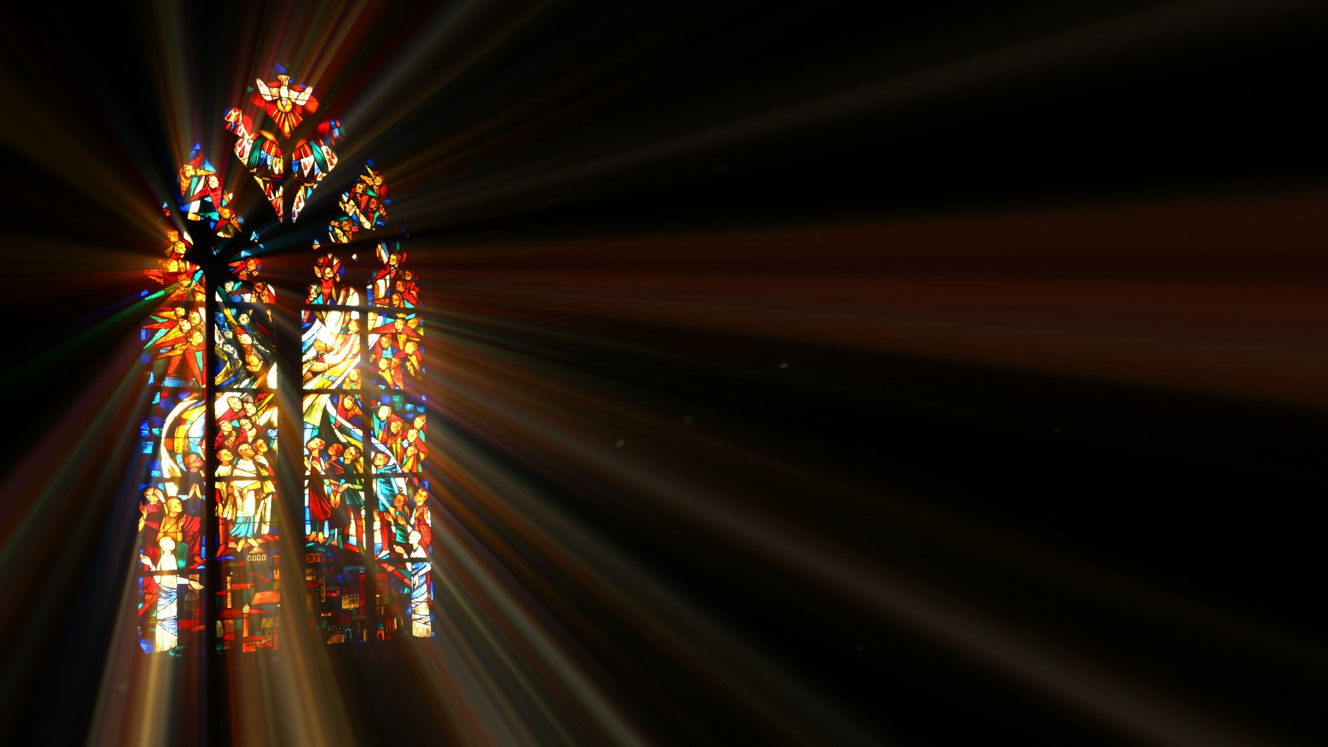 Light Rays Through Stained Glass Unlimited Free Stock