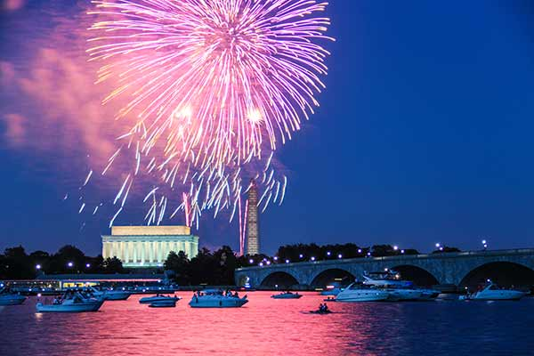 Washington DC Fireworks Free Stock Photo
