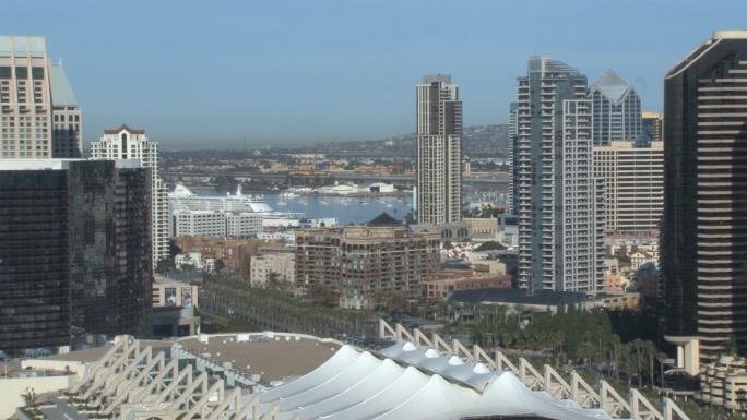 San Diego City Skyline Daytime Convention Center