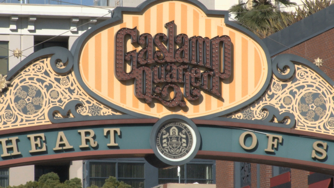 San Diego Gaslamp District Signage