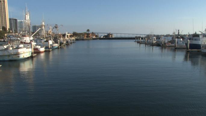 Boats in Marina San Diego