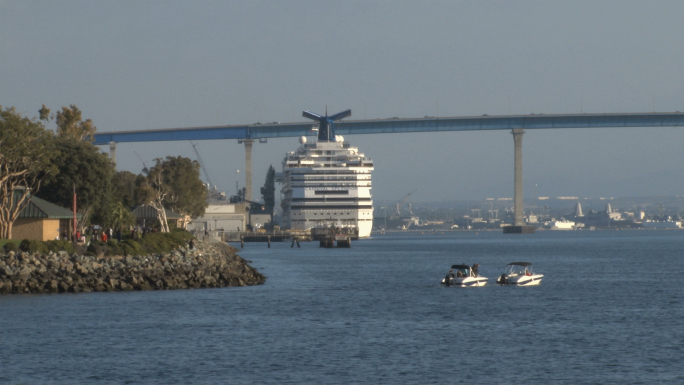 Cruise ship ported at San Diego