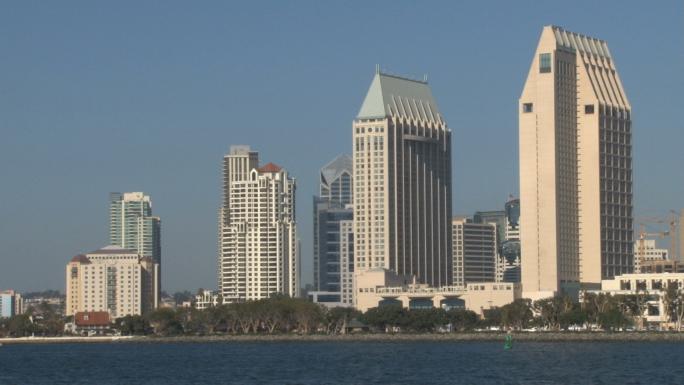 San Diego Skyline Detail Waterfront