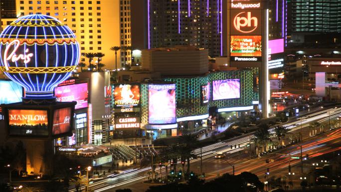 Time Lapse Las Vegas Night