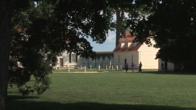 Main house and quarters at Mt Vernon