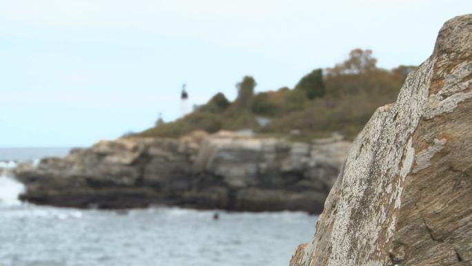 Focus shift onto lighthouse 2