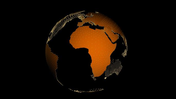 Transparent Alpha Channel Globe 6 Orange