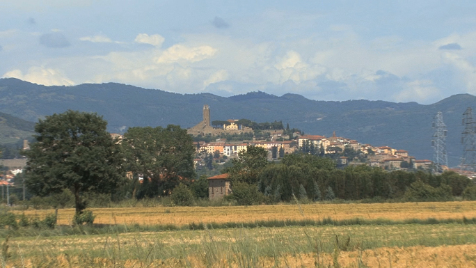 Tuscany Wheat Field and Castelione 2