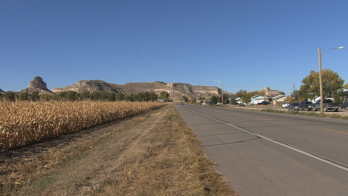 Nebraska Highway to Scotts Bluff