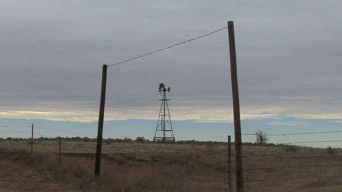 Oklahoma Windmill and Fence 3