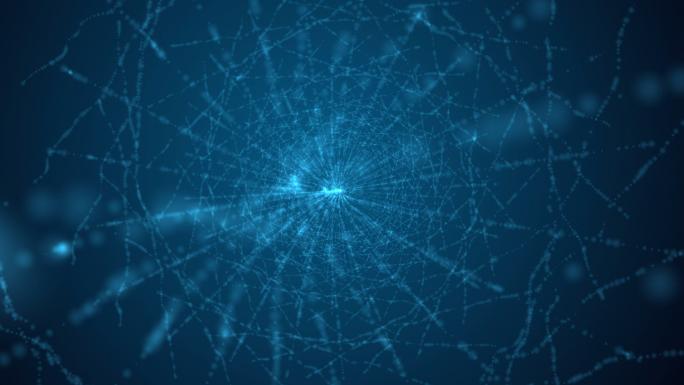 Blue Spinning Webbed Vortex