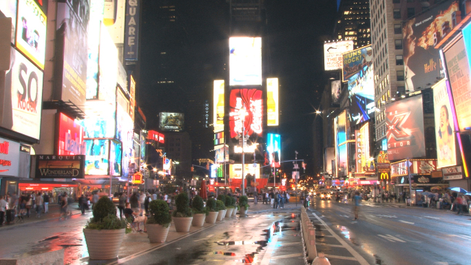 Times Square Street Scene Slow