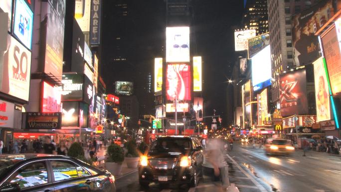 Times Square Street Scene Slow 4