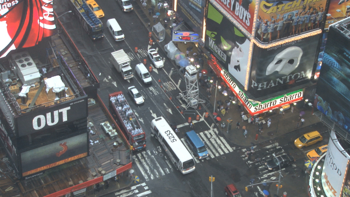 Looking Down at Times Square in New York 5