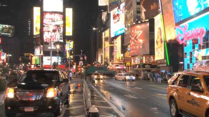 Times Square Street Scene Slow 5