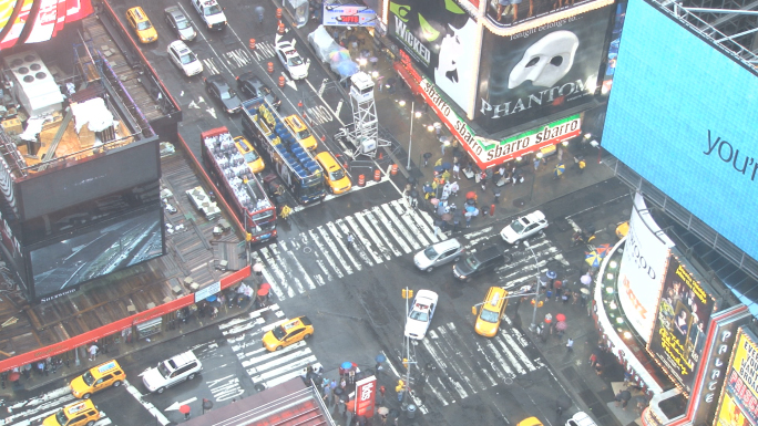 Looking Down at Times Square in New York 6